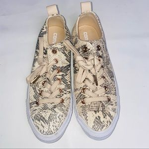 Converse Leather Snakeskin All Star Sneakers